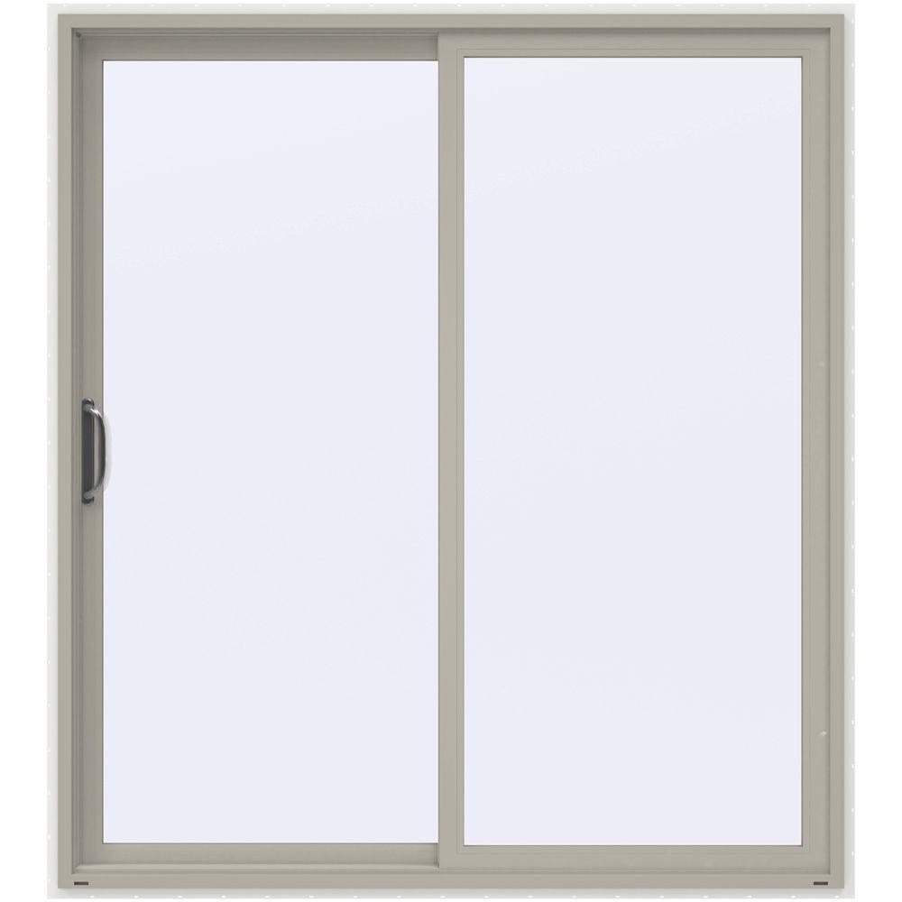 72 in x 80 in v 4500 contemporary desert sand vinyl left - Patio Single Door