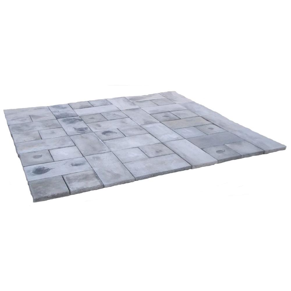 Natural Concrete Products Co 72 sq. ft. Concrete Rundle Stone Gray Paver Kit