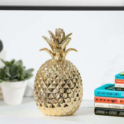 Pineapple Small Gold Porcelain Figurine