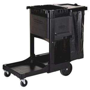 Rubbermaid 21.8 inch x 46 inch x 38 inch Executive Janitor Cleaning Cart by Rubbermaid