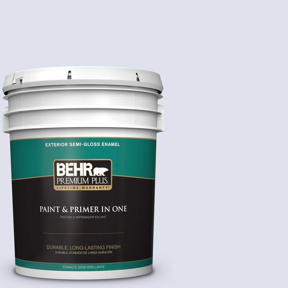 BEHR Premium Plus 5-gal. #600A-1 December Dawn Semi-Gloss Enamel Exterior Paint