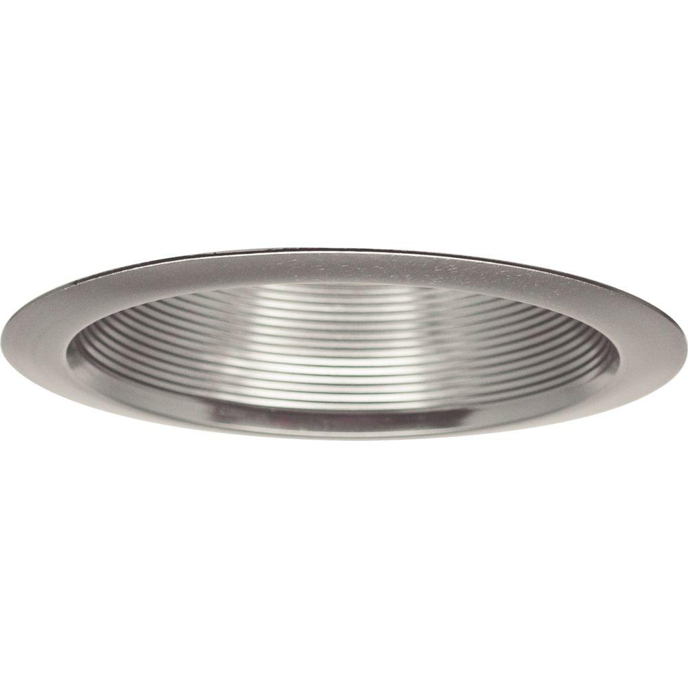 Progress Lighting 6 in. Brushed Nickel Recessed Baffle Trim  sc 1 st  Home Depot & Progress Lighting 6 in. Brushed Nickel Recessed Baffle Trim-P8066-09 ...
