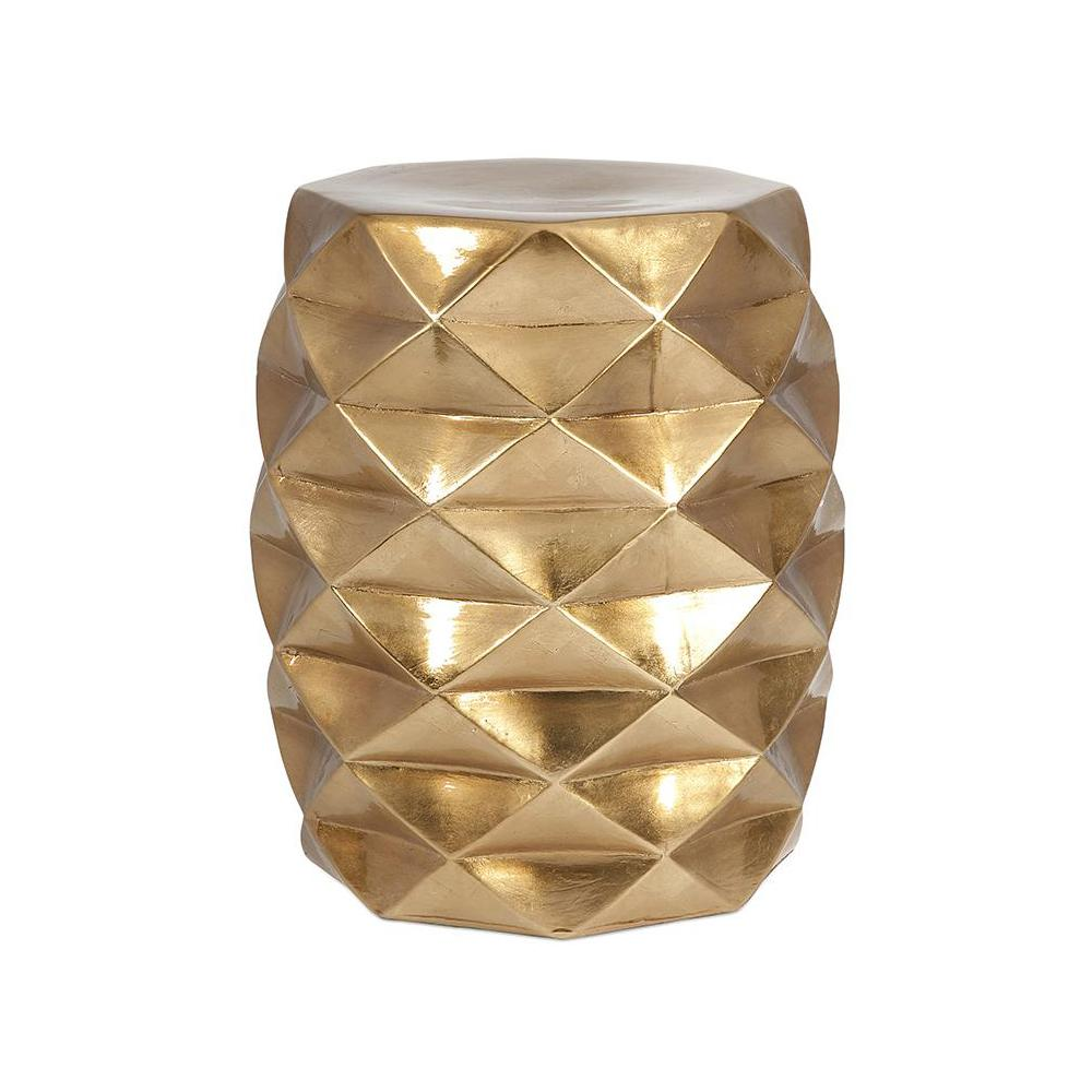 Fabulous Britany 18 in. Gold Garden Stool-25194 - The Home Depot AQ25