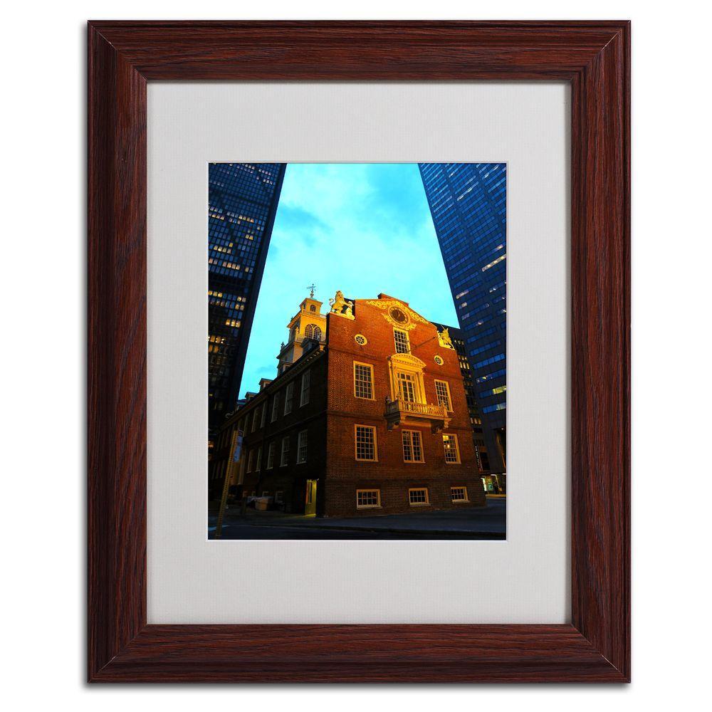 11 in. x 14 in. Boston Matted Framed Art