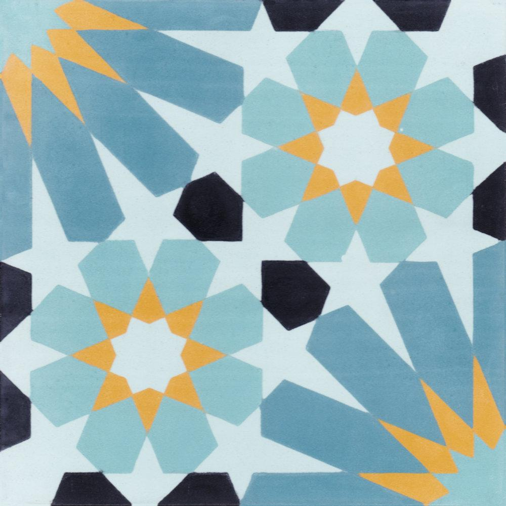 Villa Lagoon Tile Tangier Primero 8 in. x 8 in. Cement Handmade Floor and Wall Tile (Box of 16/ 6.96 sq. ft.)