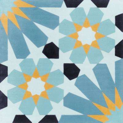 Tangier Primero 7-7/8 in. x 7-7/8 in. Cement Handmade Floor and Wall Tile