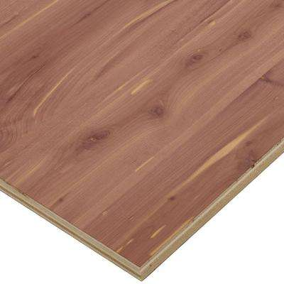3/4 in. x 2 ft. x 8 ft. PureBond Aromatic Cedar Plywood Project Panel (Free Custom Cut Available)