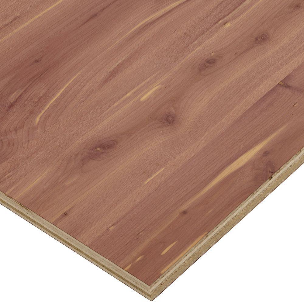 3/4 in. x 4 ft. x 4 ft. PureBond Aromatic Cedar