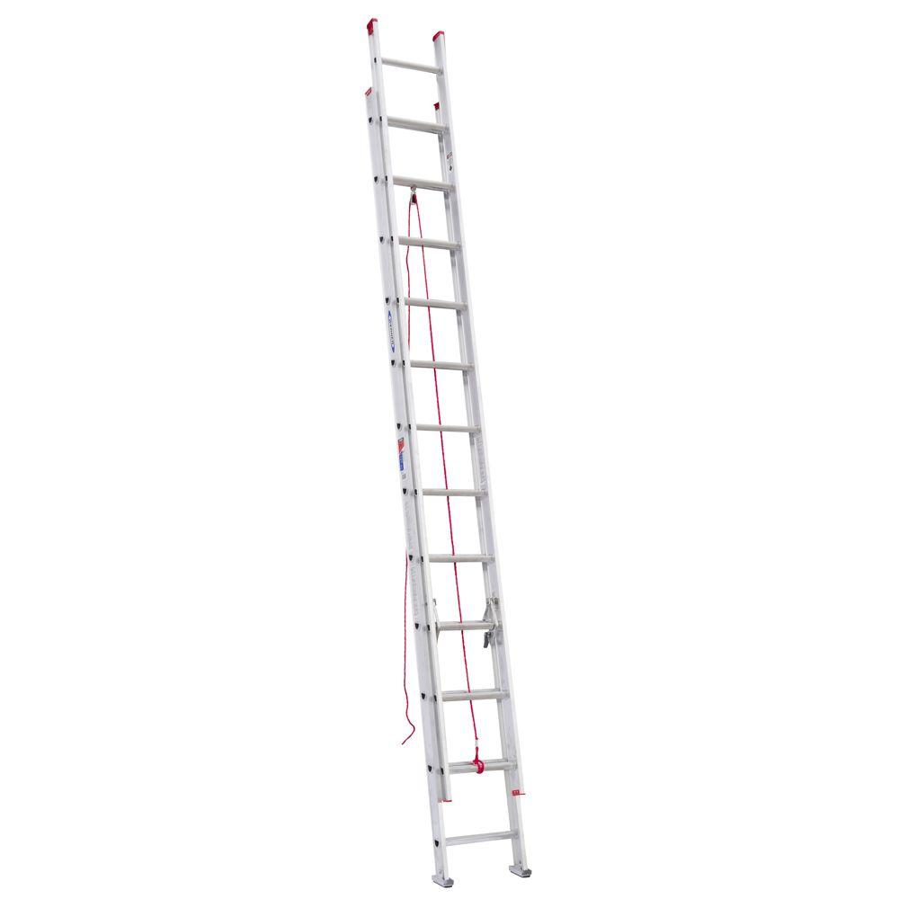 24 ft. Aluminum D-Rung Extension Ladder with 200 lb. Load Capacity