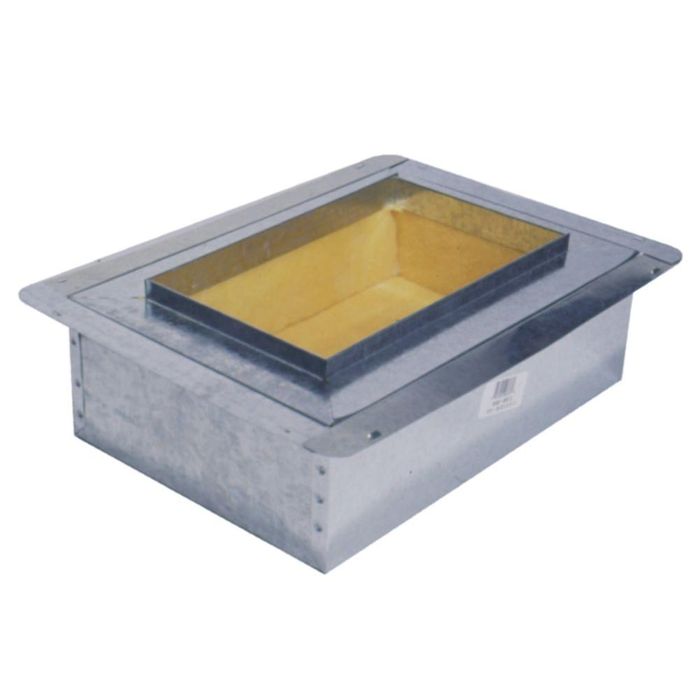 null 10 in. x 8 in. Ductboard Insulated Register Box