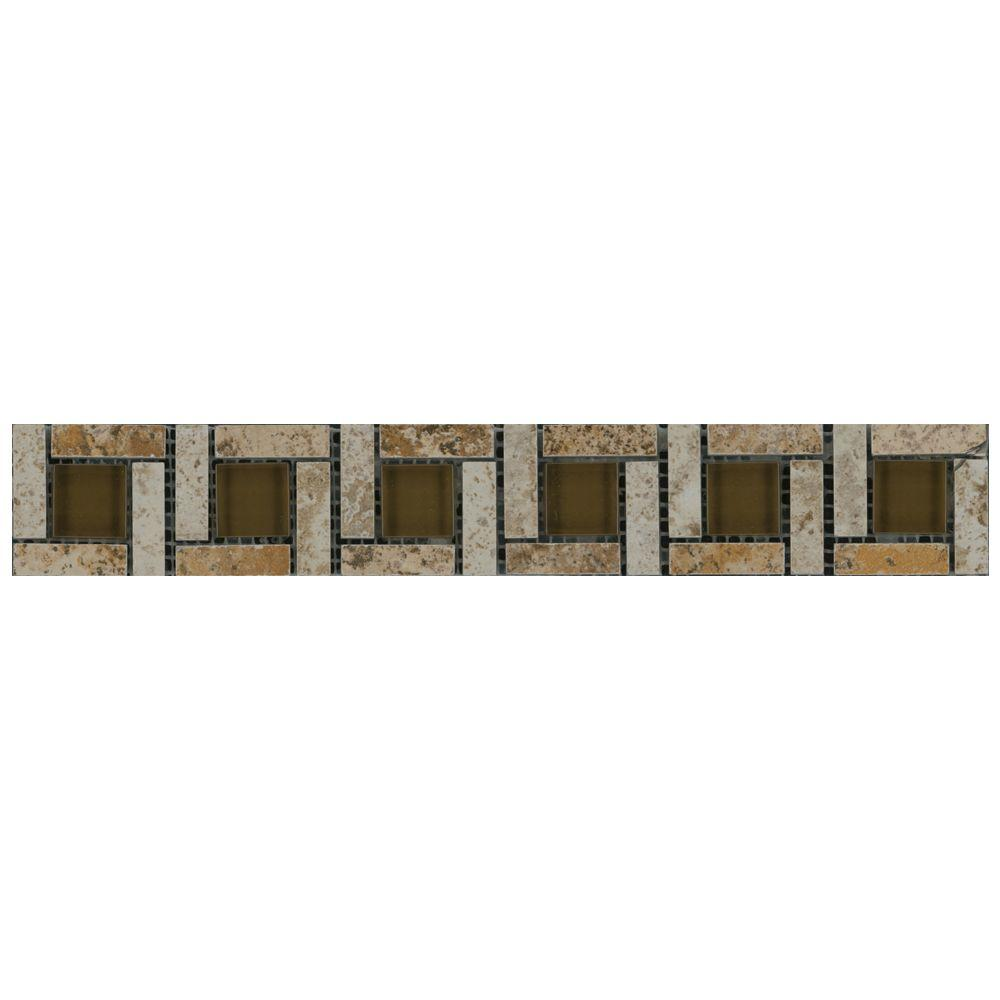 MARAZZI Travisano Navona 2 In. X 12 In. Porcelain Pinwheel Trim Wall Tile