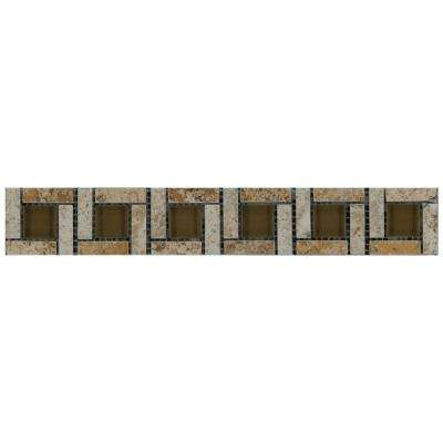 Travisano Navona 2 in. x 12 in. Porcelain Pinwheel Trim Wall Tile