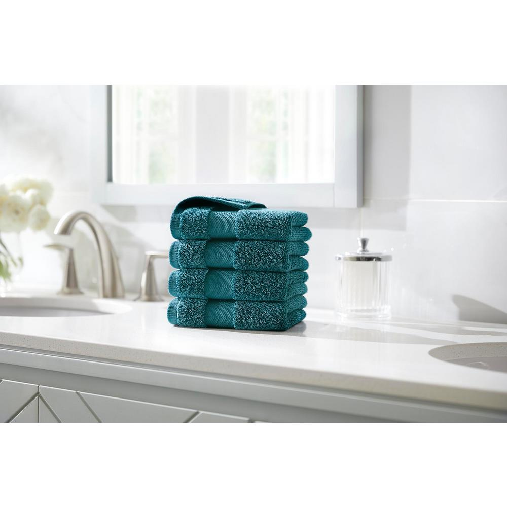 HomeDecoratorsCollection Home Decorators Collection Plush Soft Cotton Wash Cloth in Charleston (Set of 4)