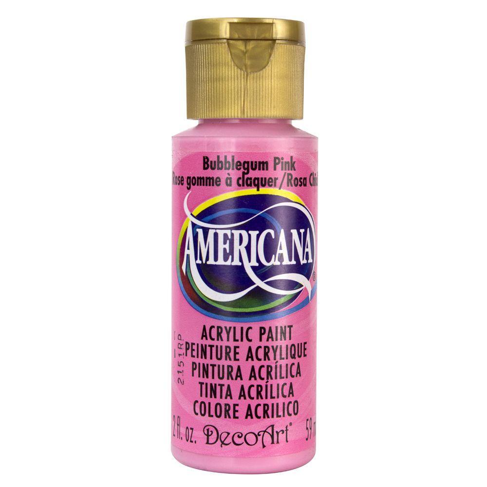 Americana 2 oz. Bubblegum Pink Acrylic Paint