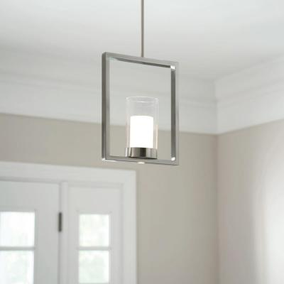 7-Watt Satin Nickel Integrated LED Pendant