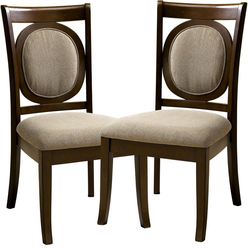 Venetian worldwide evelyn walnut dining chair set of 2