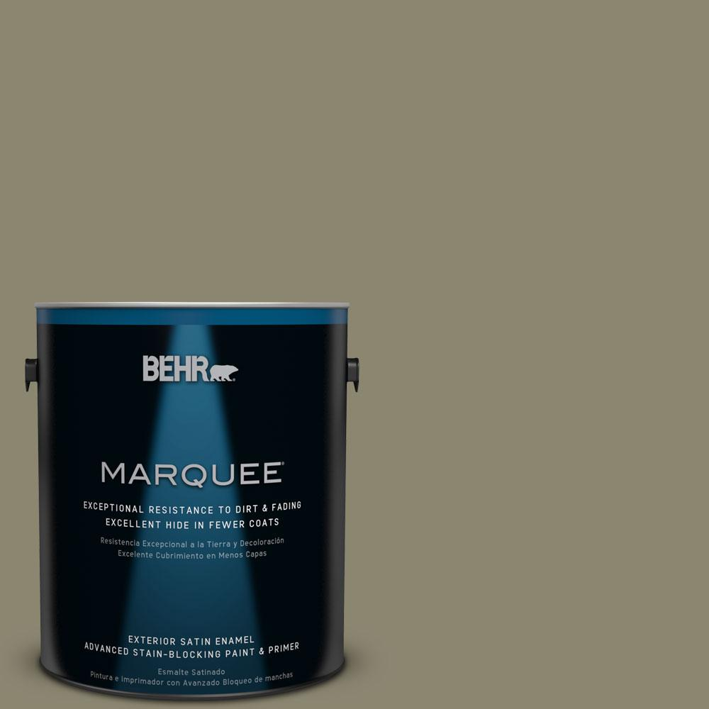 BEHR MARQUEE 1-gal. #PPU8-21 Mossy Bank Satin Enamel Exterior Paint