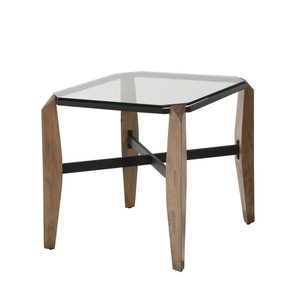Furniture Of America Jasmina Clear Gl End Table