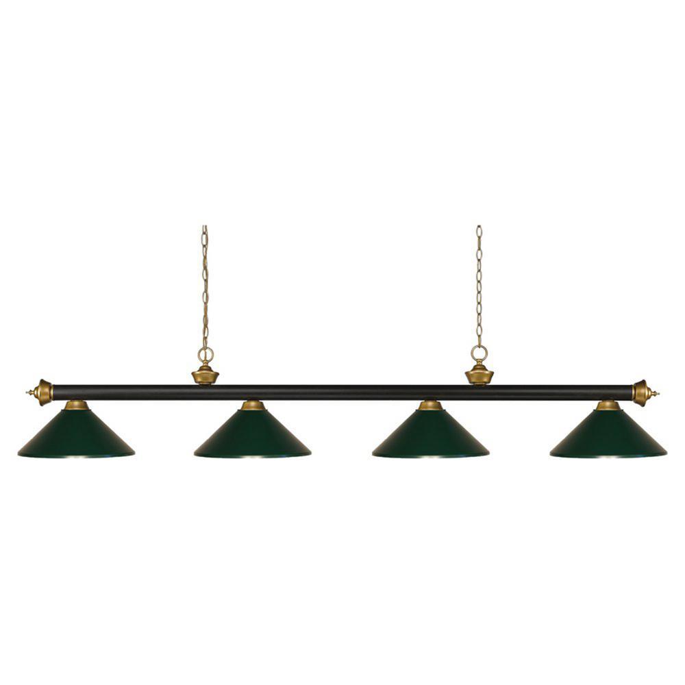 4-Light Bronze Billiard Light