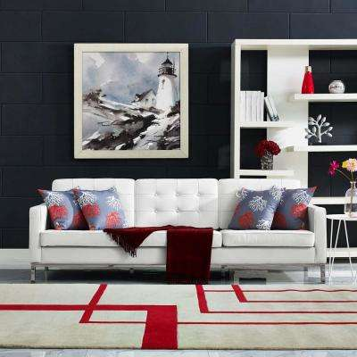 Faux Leather White Mid Century Modern Living Room Furniture