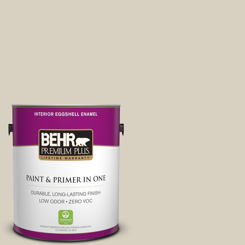 BEHR Premium Plus 1-gal. #PPF-14 Traditional Tan Zero VOC Eggshell Enamel Interior Paint