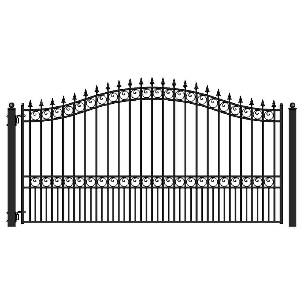 Driveway Gates Gate Openers The Home Depot Electric Motor Wiring Additionally Swing Door Black Steel Single