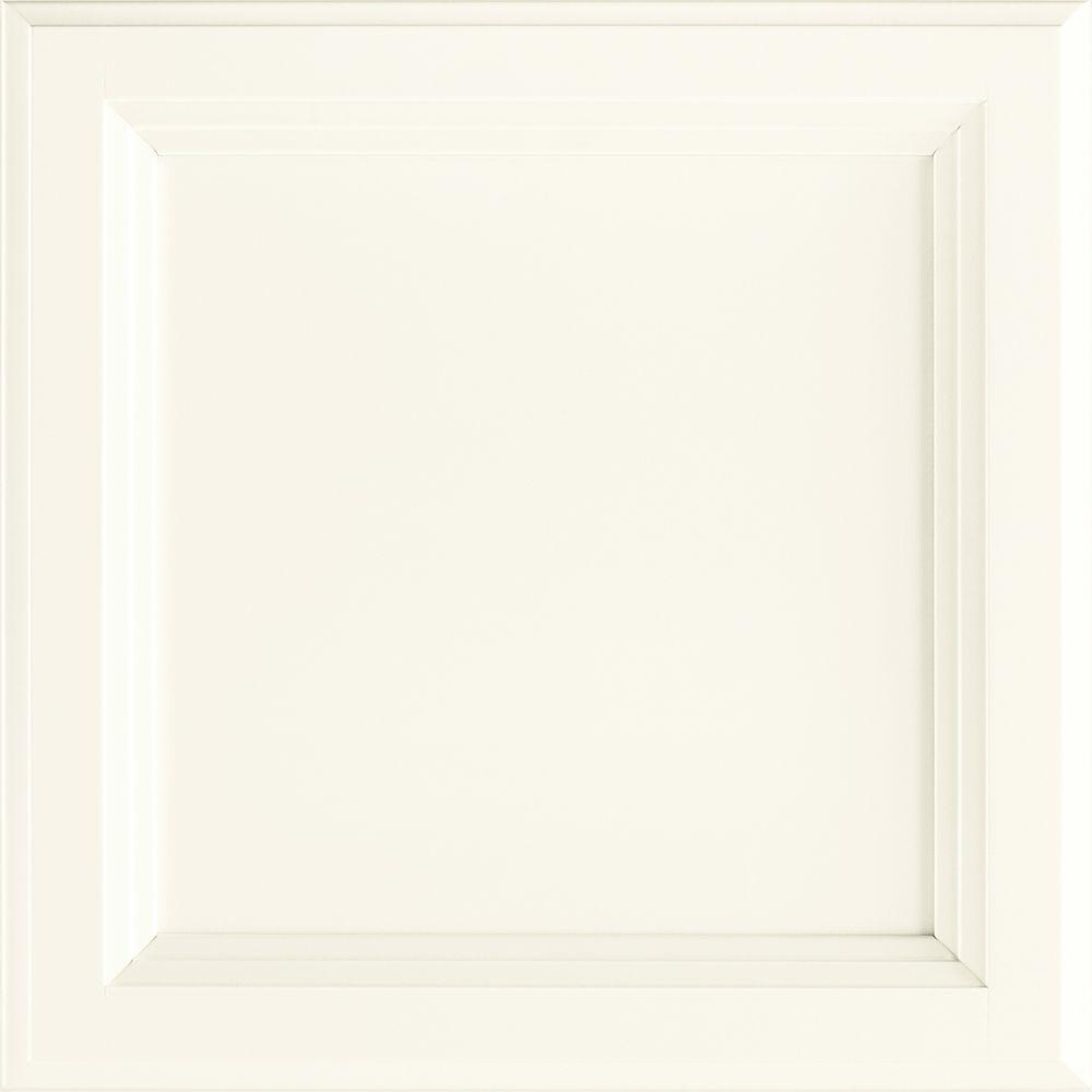 American Woodmark Ashland 13x12-7/8 in. Cabinet Door Sample in Painted Linen