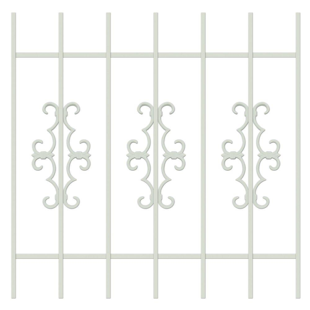 Unique Home Designs Watchman Trio 36 in. x 36 in. Almond 7-Bar Window Guard-DISCONTINUED