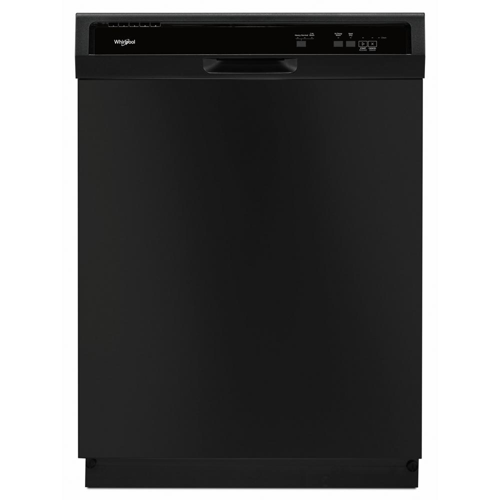 Whirlpool Front Control Built-In Tall Tub Dishwasher in Black with 1-Hour Wash Cycle, 63 dBA We designed dishwashers with features for flexibility like the 1-Hour Wash cycle. This feature makes sure you have dishes when you need them, how you need them. For clean, dry dishes straight from the dishwasher, use the Heated Dry option. Color: Black.