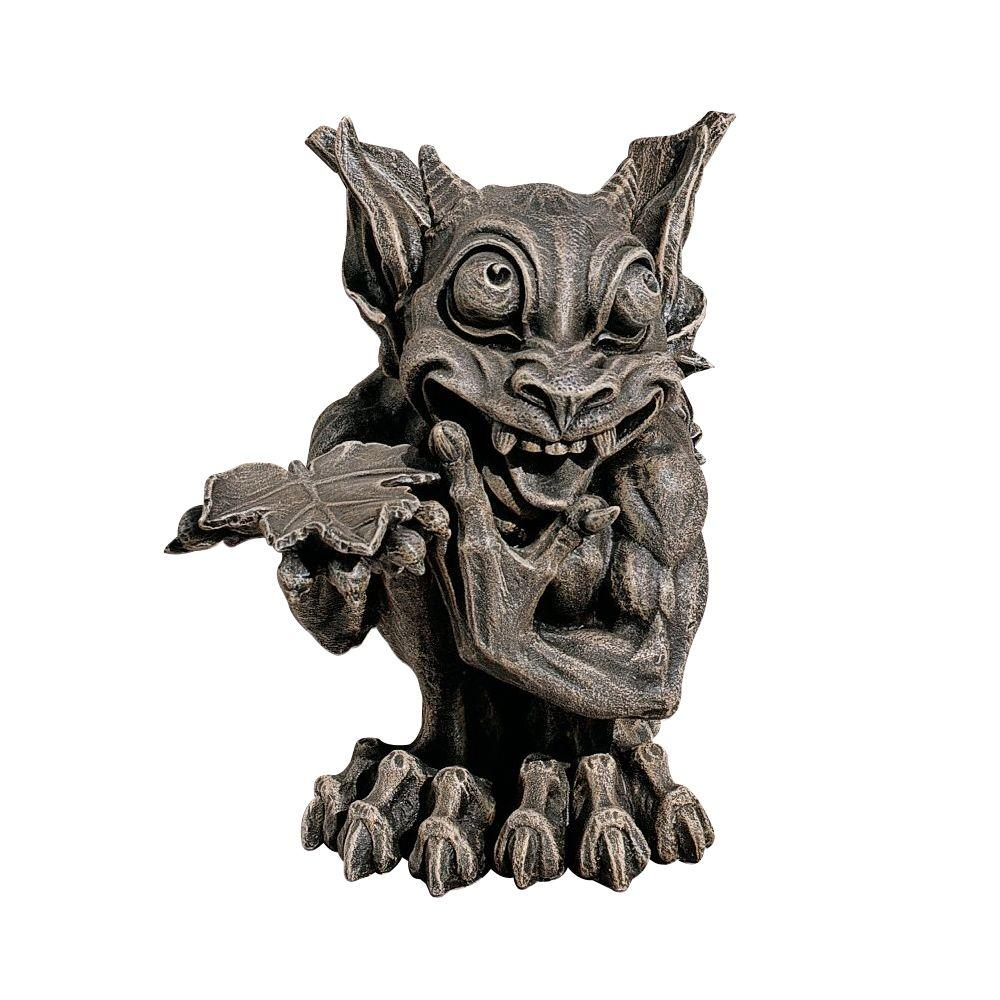 Design Toscano 11.5 in. Babble The Gothic Gargoyle Garden Statue-DISCONTINUED