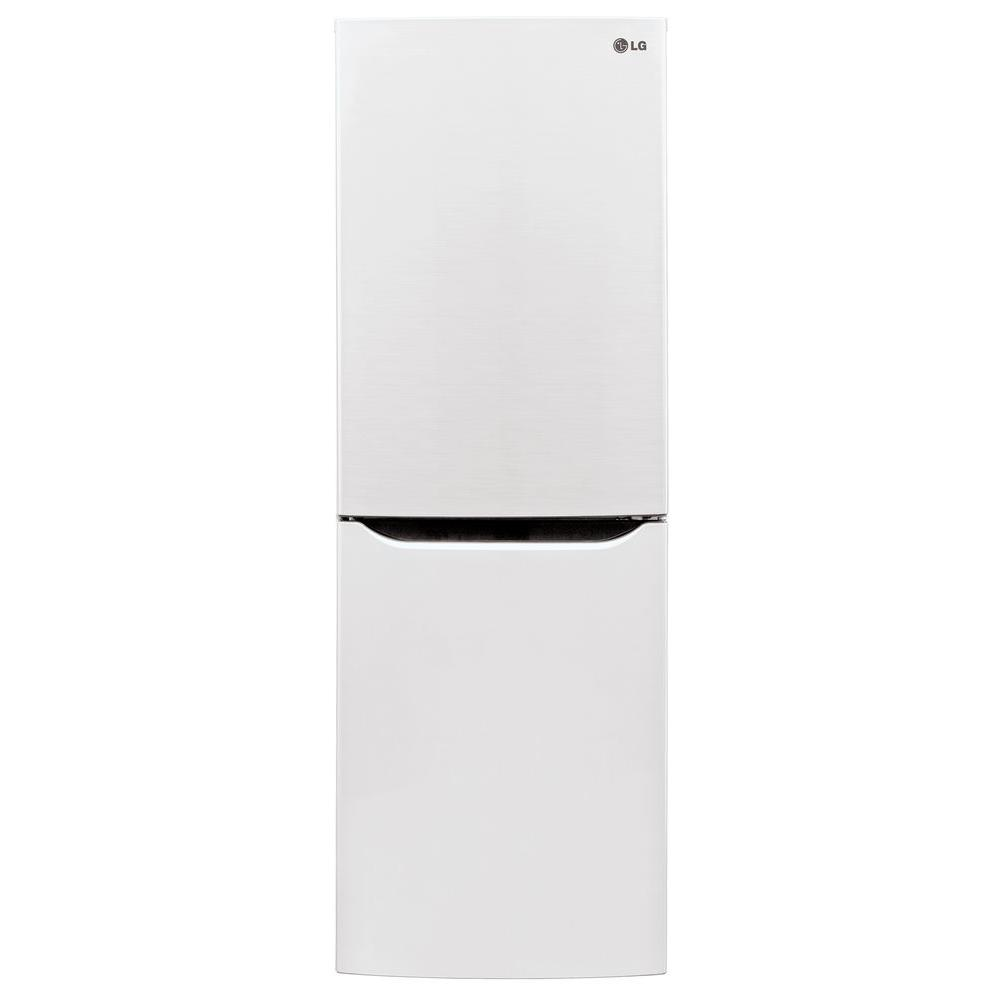 LG Electronics 10 cu. ft. Bottom Freezer Refrigerator in Smooth White