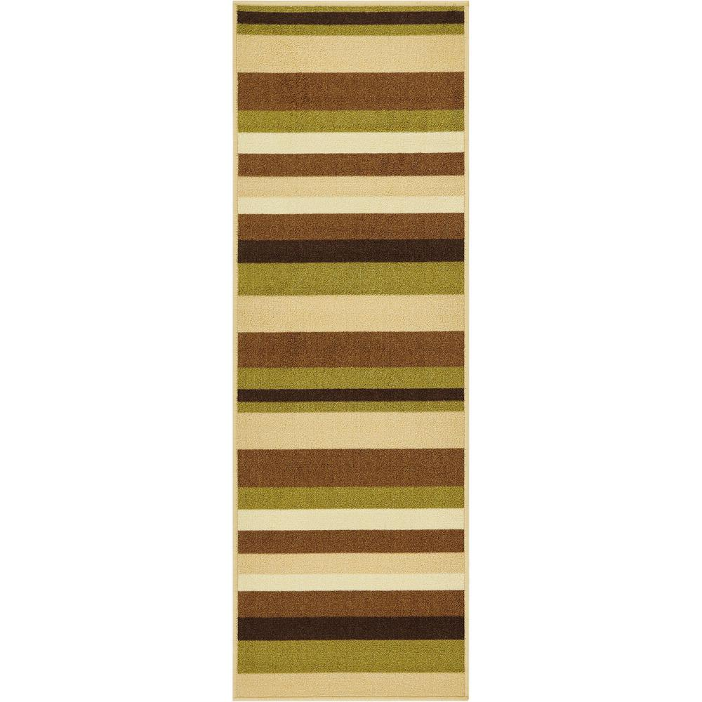 Well Woven Kings Court Uni Stripes Green 3 ft. x 12 ft. Modern Geometric Runner Rug was $44.11 now $35.29 (20.0% off)