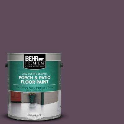 1 gal. #S100-7 Medieval Wine Low-Lustre Interior/Exterior Porch and Patio Floor Paint