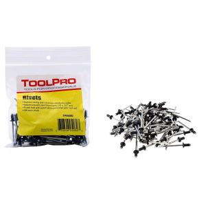 ToolPro 1/8 inch Black Aluminum Pull Rivets (100-Pieces) by ToolPro