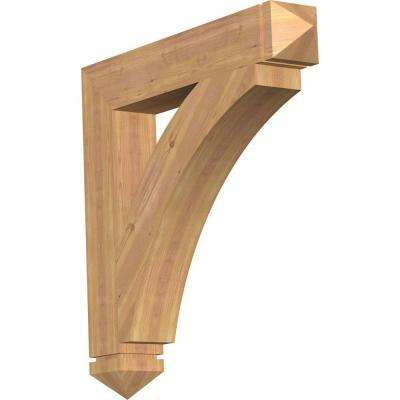 5.5 in. x 36 in. x 36 in. Western Red Cedar Thorton Arts and Crafts Smooth Bracket