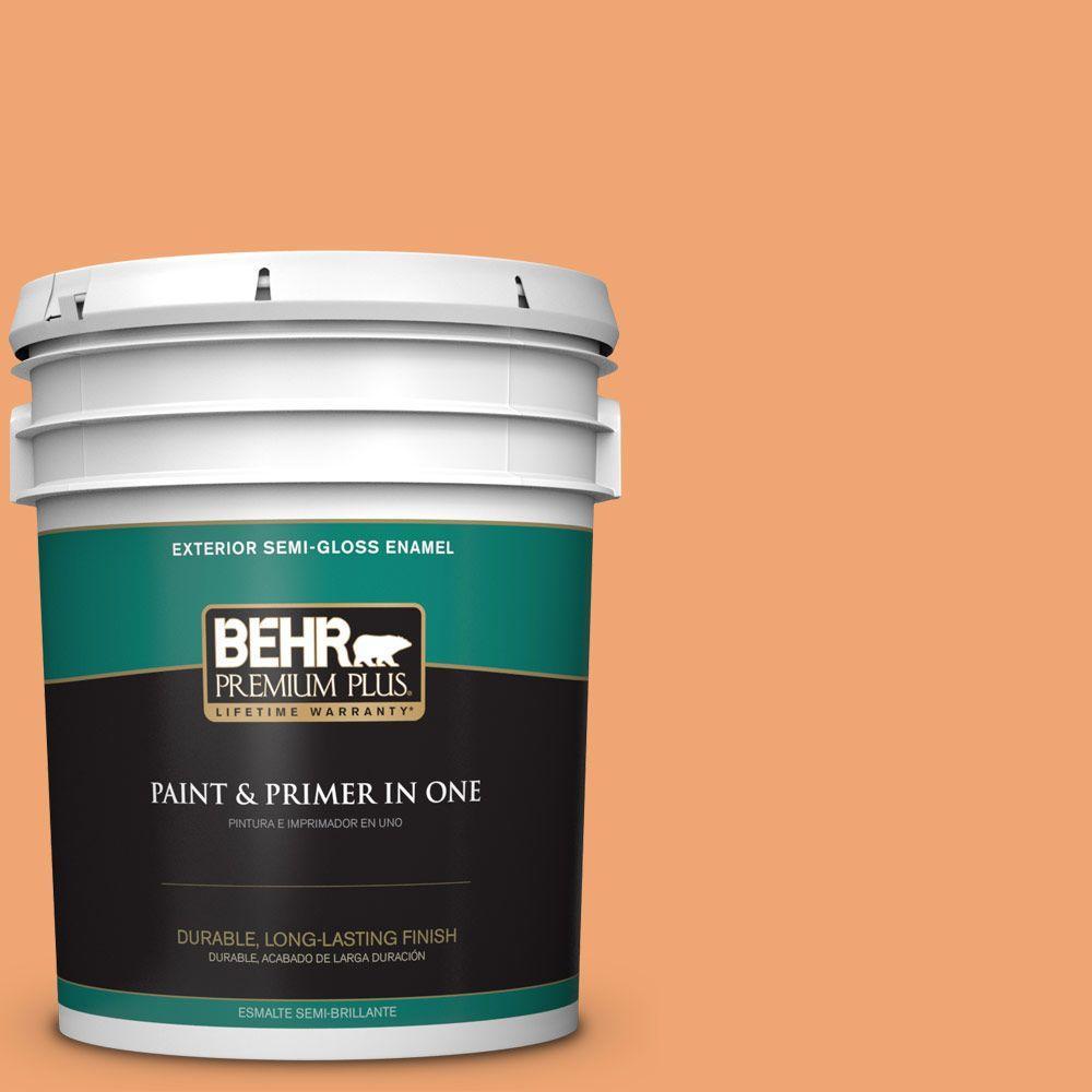 5 gal. #HDC-SP16-04 Apricot Jam Semi-Gloss Enamel Exterior Paint