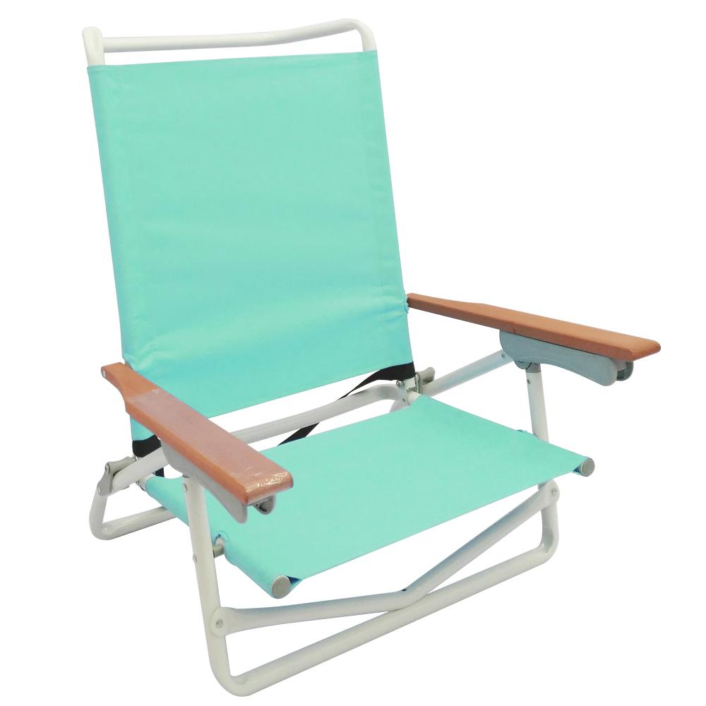 5-Position Aqua Folding Metal Beach Chair  sc 1 st  The Home Depot & 5-Position Aqua Folding Metal Beach Chair-S2101-1 - The Home Depot