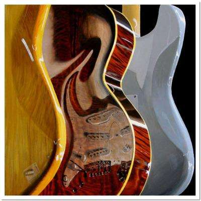 24 in. x 24 in. Music Store by Roderick Stevens Canvas Art