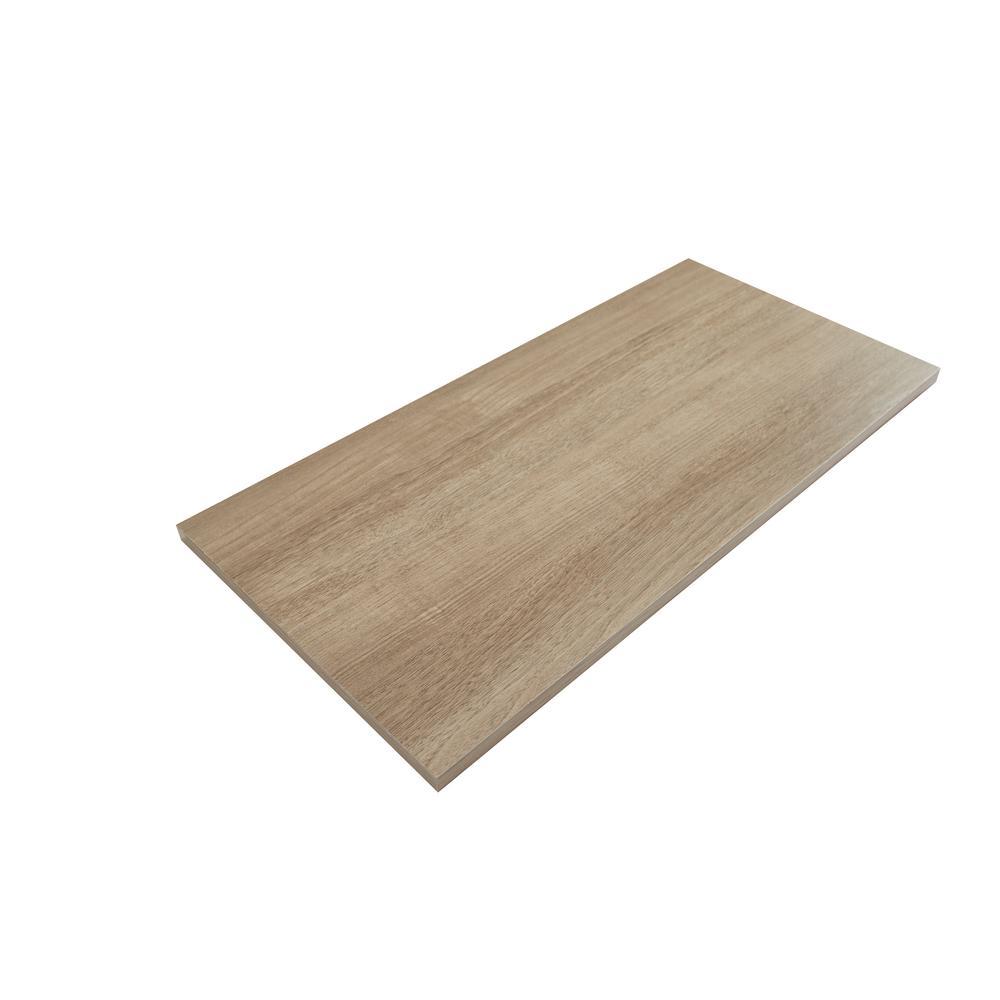 12 in. x 72 in. Organic Ash Laminated Wood Shelf