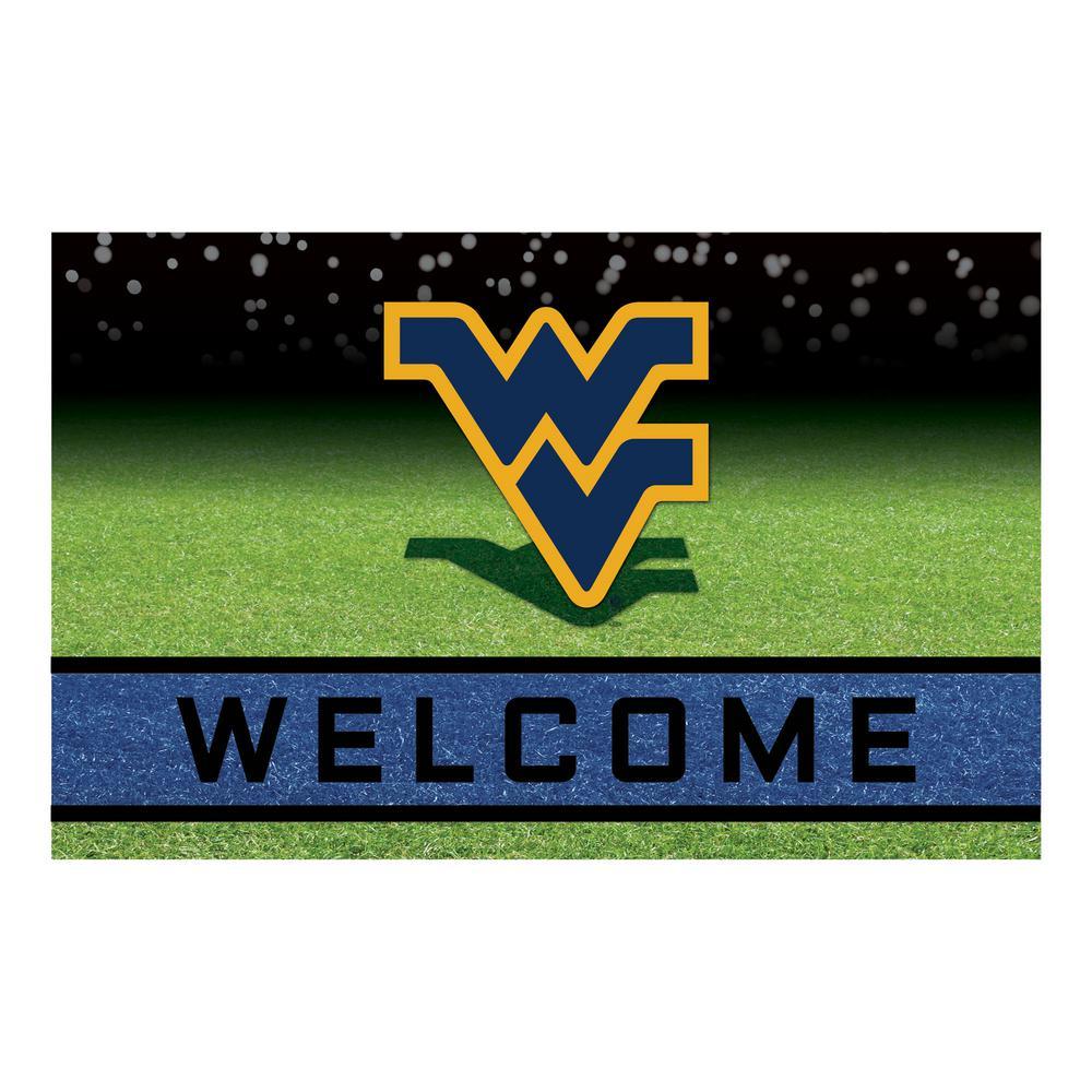 West Virginia University 18 in. x 30 in. Rubber Door Mat