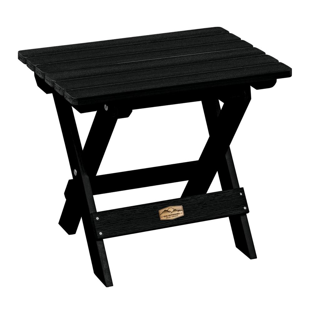 Essential Abyss Rectangular Recycled Plastic Outdoor Folding Side Table