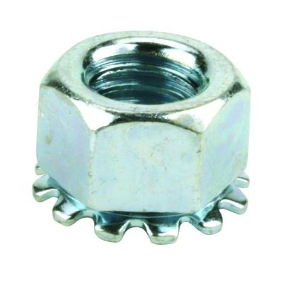3/8 in. x 16 tpi Zinc-Plated Steel Keep Lock Nut (2 per Bag)