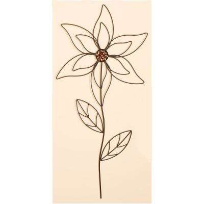31 in. Metal Flower Garden Stick