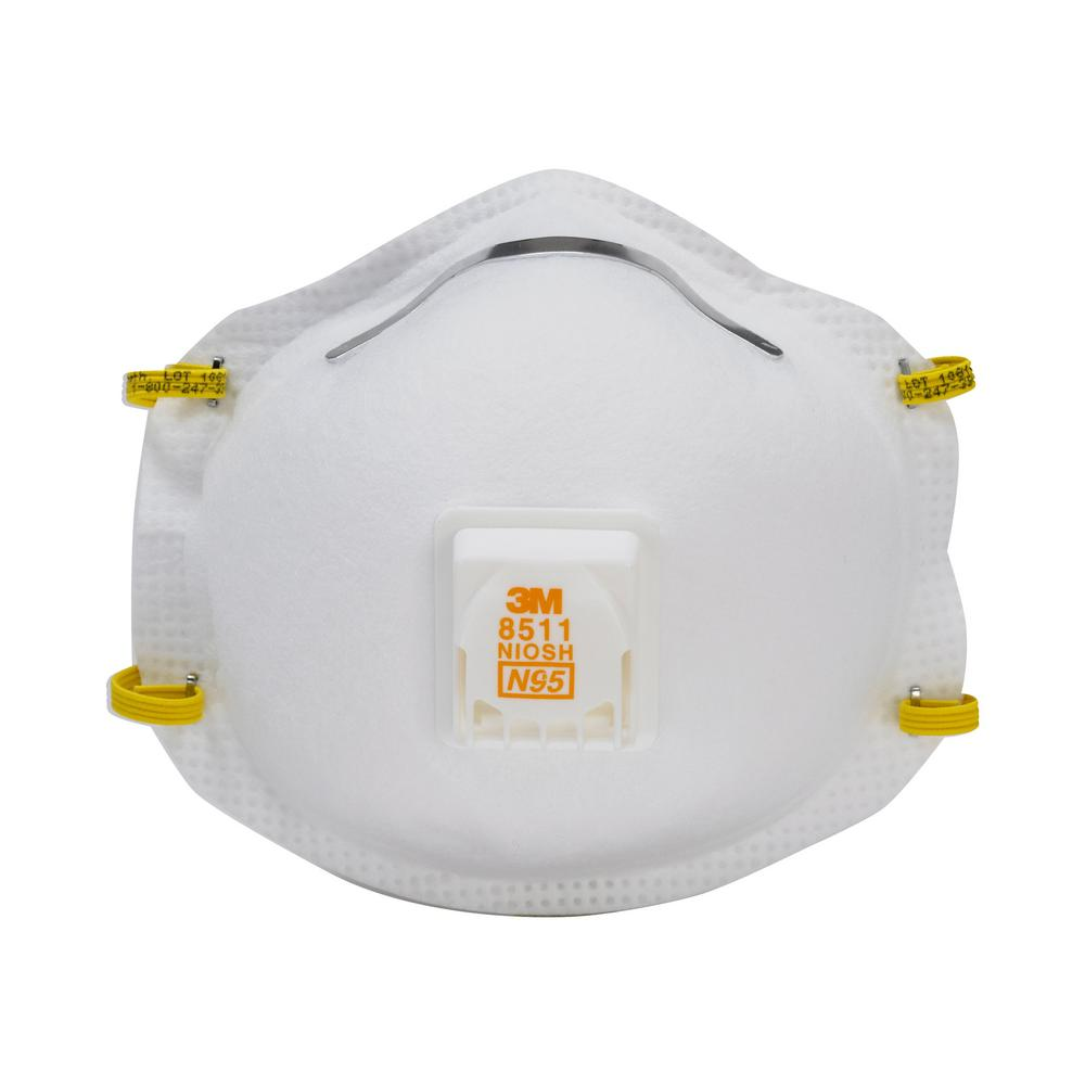 N95 8 Of Valved And Fiberglass 5-pack 3m Sanding case Respirator