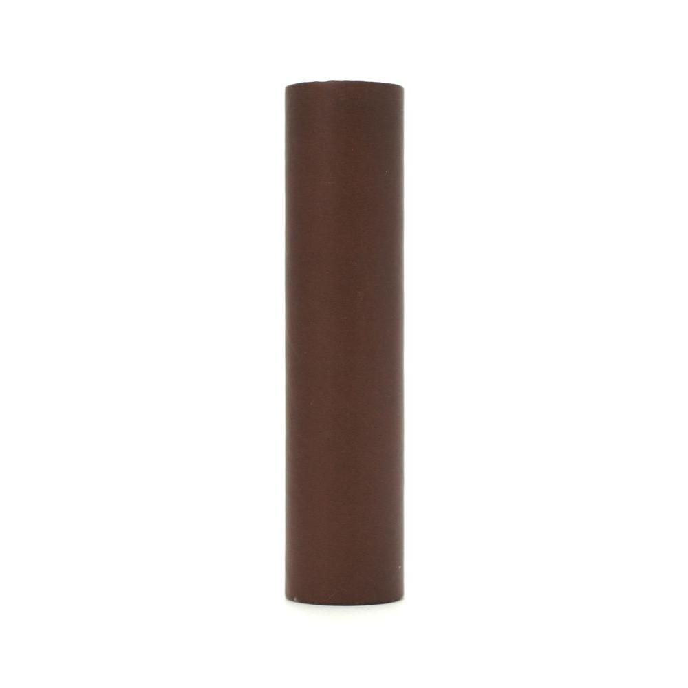 kaarskoker Solid 4 in. x 7/8 in. Milk Chocolate Paper Candle Covers, Set of 2