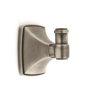 Clarendon Wall Mount Single Robe Hook in Antique Silver