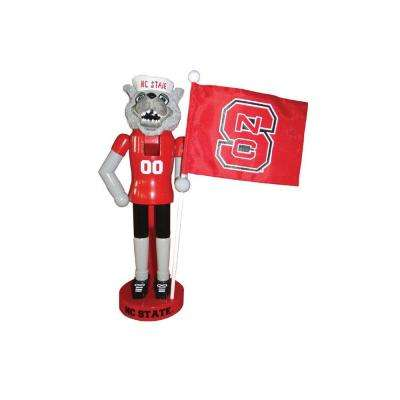 12 in. NC State Mascot Nutcracker with Flag