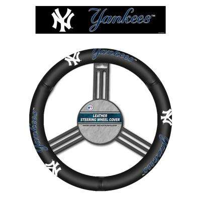 MLB New York Yankees Leather Steering Wheel Cover