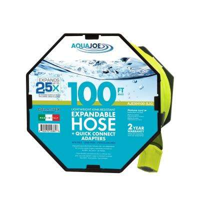 1/2 in. x 100 ft. Expandable Gelastex Lightweight Kink-Free Hose w/Quick Connectors