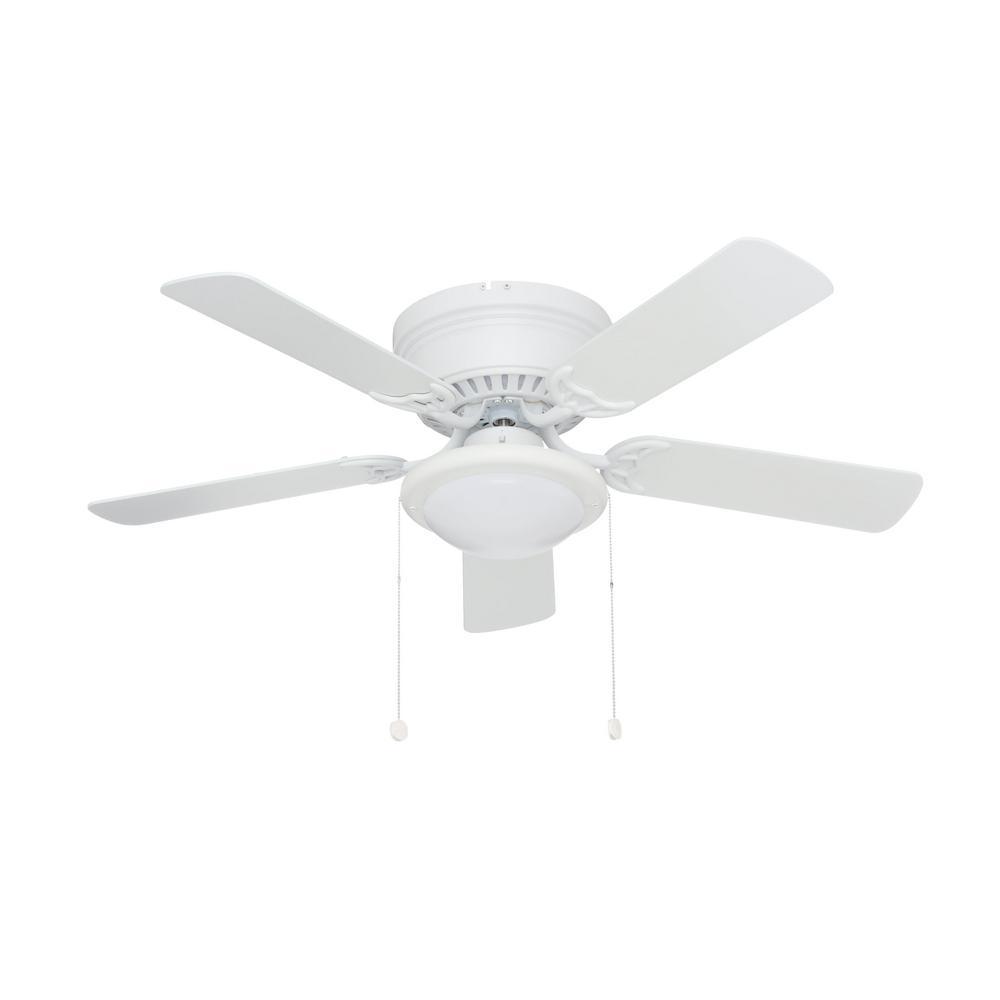 Led Matte White Ceiling Fan Al383cp Mwh